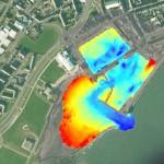 SEA SwathPlus of Arbroath harbour overlayed on Google Earth image.